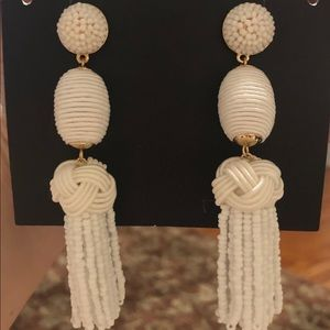 Bauble bar sandriana drop earrings in white